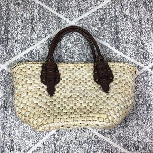 Straw Studios Whicker Basket Weave Shoulder Bag